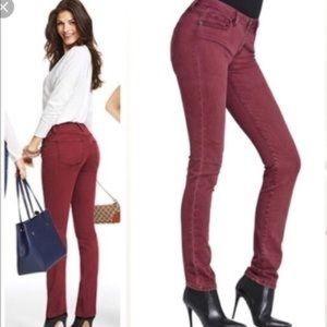 CABI   Maroon Burgundy Bordeaux Wash Skinny Jeans